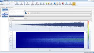 Spektrogramm einer Rampenfahrt